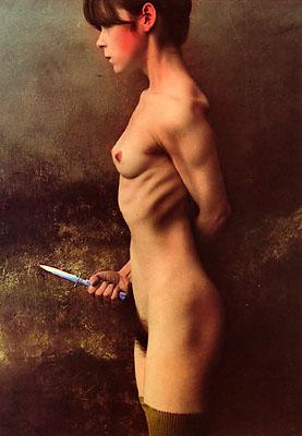 Jan Saudek, The Knife, 1987